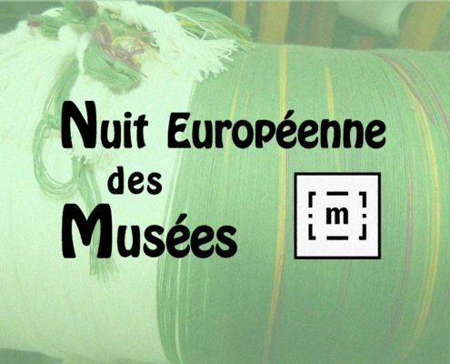 affiche de la nuit europeenne des musees en mai au musee du textile en ariege